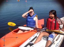 130711 Jayde Mabel smiles canoe