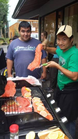 130828 Salmon BBQ